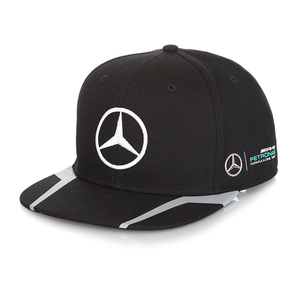 new 2016 lewis hamilton black flat brim cap mercedes. Black Bedroom Furniture Sets. Home Design Ideas