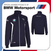 New! 2016 Puma BMW Motorsport Mens Team Sweat Jacket Dark Blue All Sizes