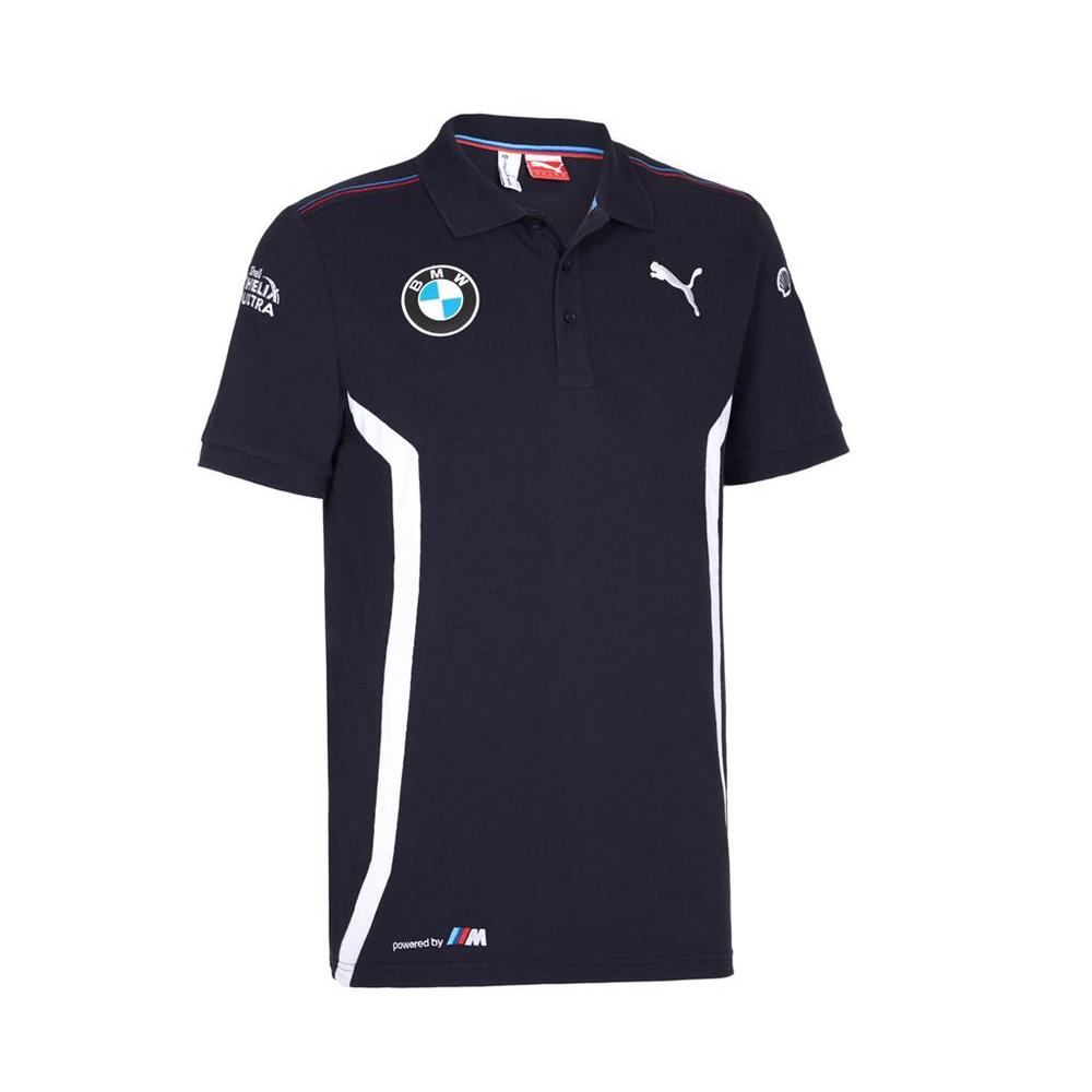 /New! 2016 Puma BMW Motorsport Mens Team Polo Shirt Blue