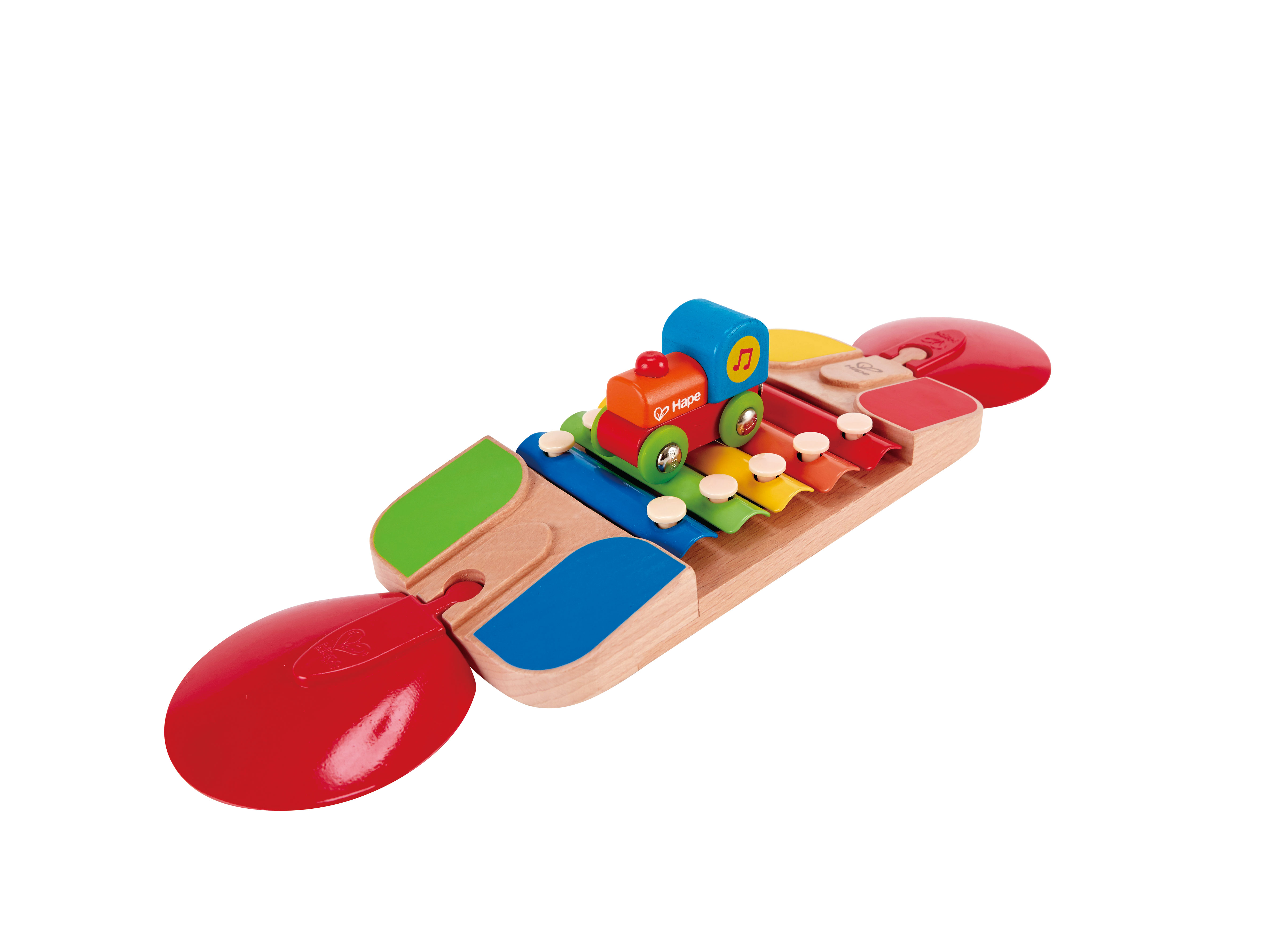... Xylophone Melody Track Wooden Train Musical Accessories Toddler 18m