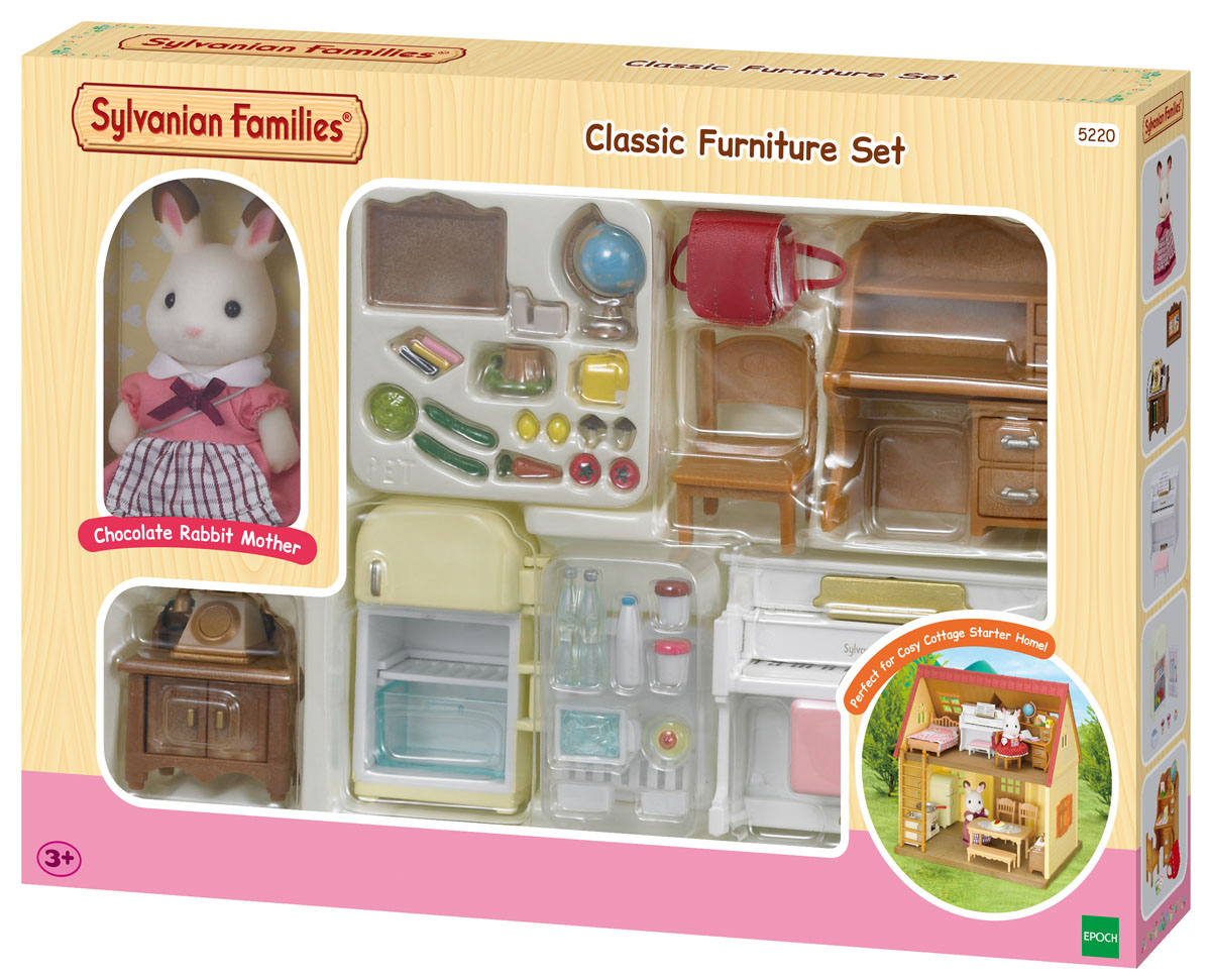 New 5220 Sylvanian Families Classic Furniture Set Inc