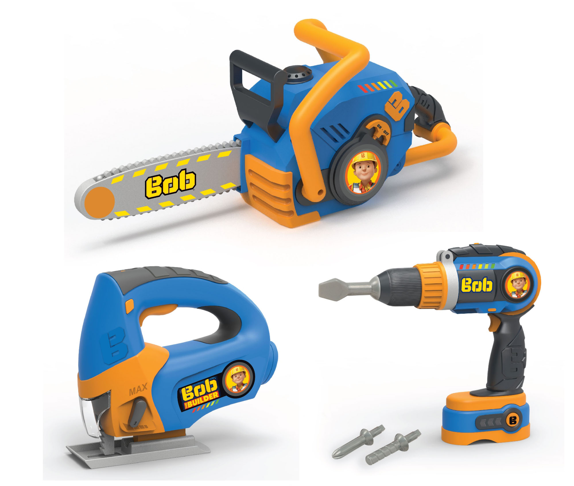 Toy Tools For Boys : Bob the builder piece electronic tool set boys