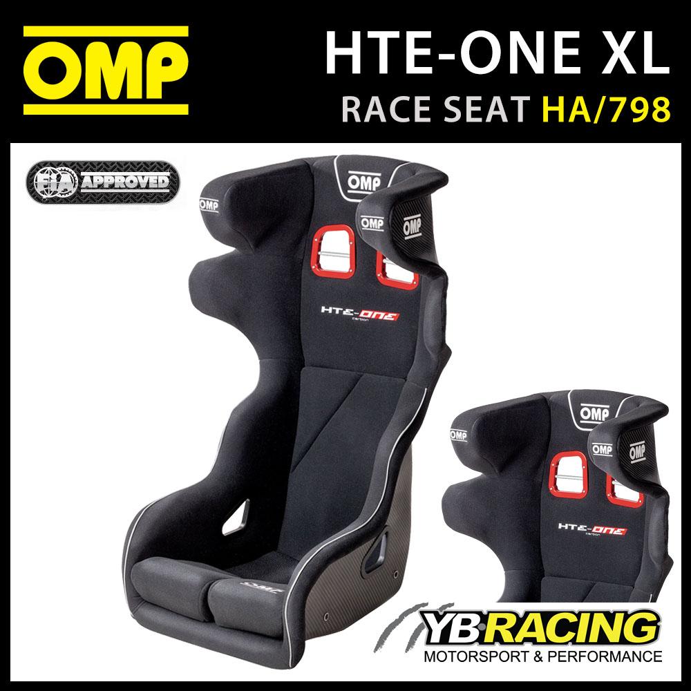 """NEW! HA/798/N OMP """"HTE-ONE"""" PROFESSIONAL RACE SEAT CARBON FIBRE XL VERSION"""