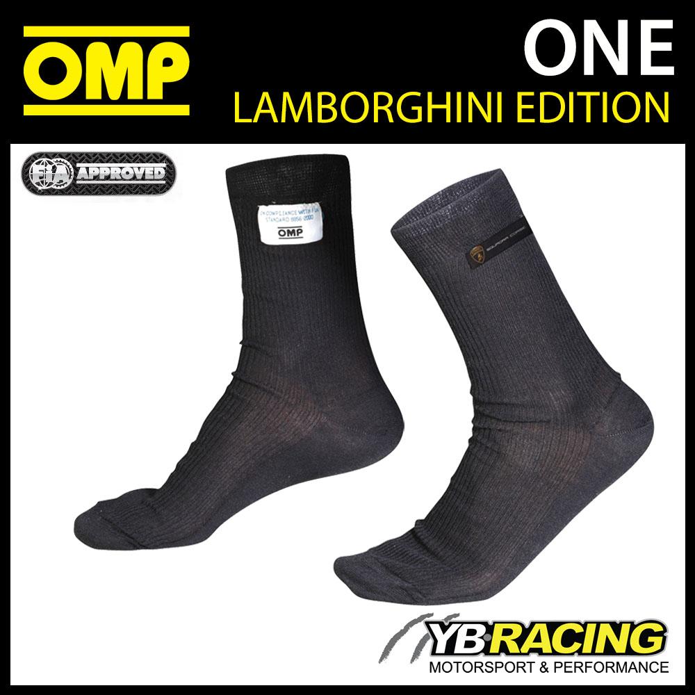 IAA/724 OMP LAMBORGHINI BLACK SHORT SOCKS