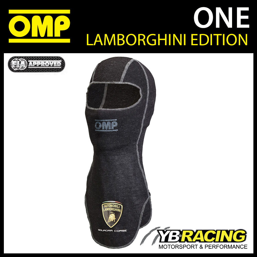 IAA/741E OMP ONE LAMBORGHINI BALACLAVA (SMALL FIT)