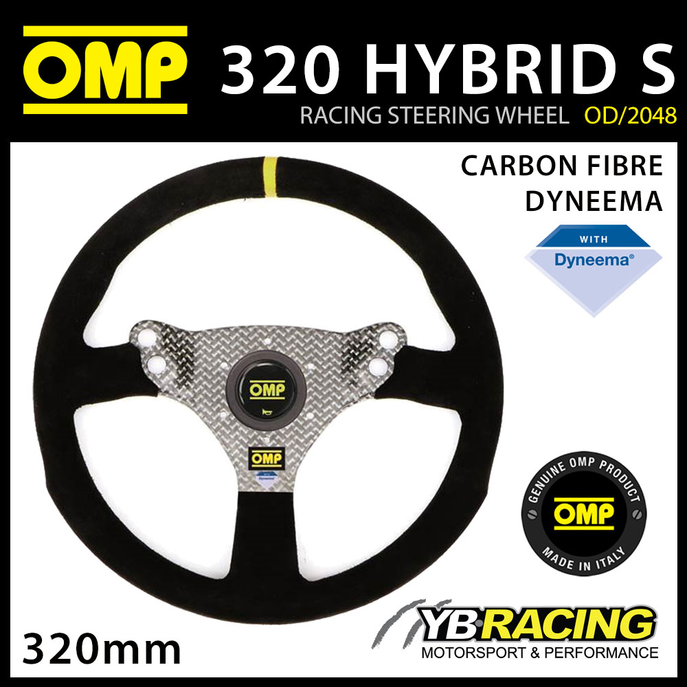 NEW! OD/2048/N OMP RACING 320 HYBRID S STEERING WHEEL CARBON FIBRE / DYNEEMA