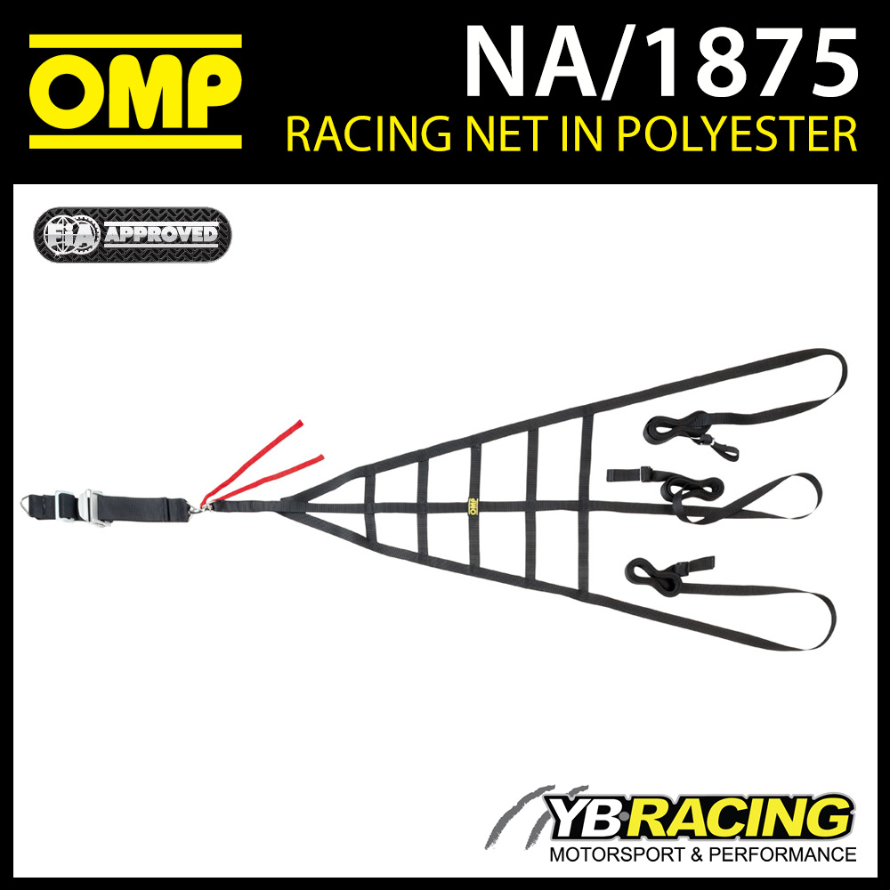 NEW! NA/1875 OMP RACING SAFETY WINDOW NET QUICK RELEASE FIA 8863-2013 APPROVED