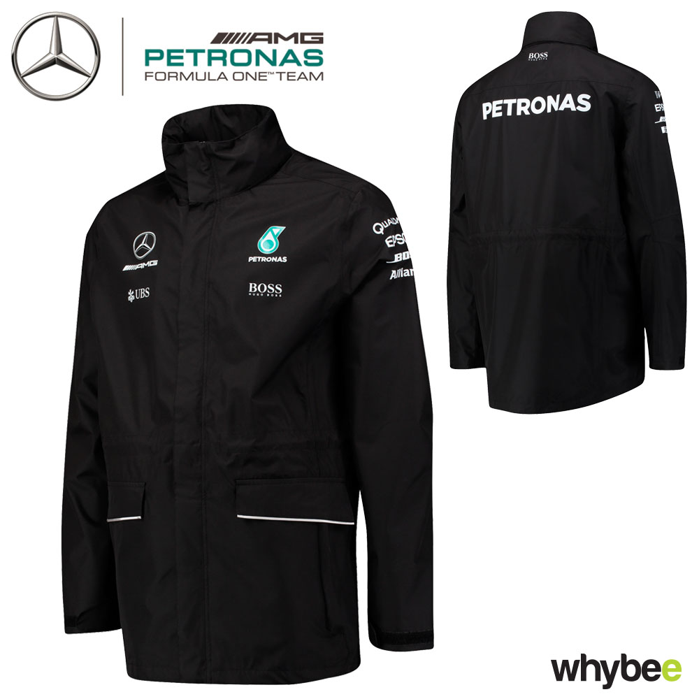 2017 mercedes amg f1 lewis hamilton formula 1 team rain jacket coat by hugo boss ebay. Black Bedroom Furniture Sets. Home Design Ideas