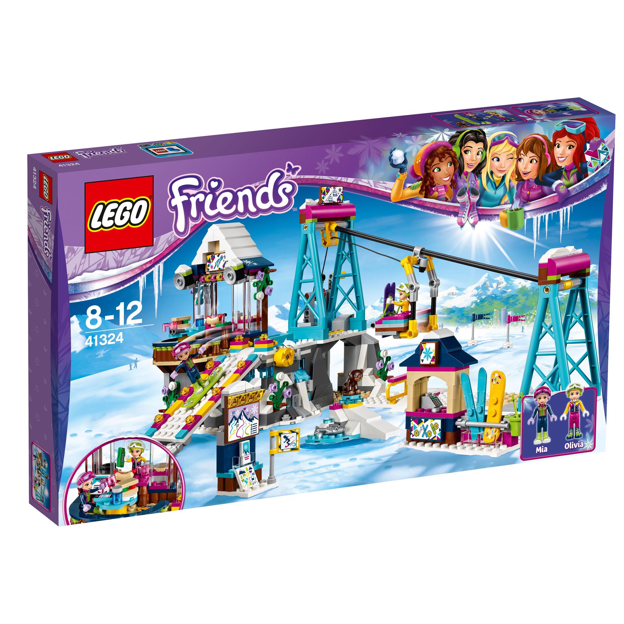 41324 LEGO Friends Snow Resort Ski Lift Set 585 Pieces Age ...