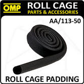 AA/113-50 OMP ROLL CAGE 2m x 50mm FOAMED BLACK RUBBER SLEEVING FIA APPROVED