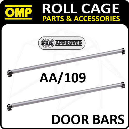 View Item AA/109 OMP ROLL CAGE 1.25m 40mm STEEL DOOR BARS FE45 FIA WITH CONNECTION ENDS