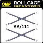 AA/111 OMP WELDED DOOR BAR X-BRACE CROSS REINFORCEMENTS FIA APPROVED - NEW PAIR!