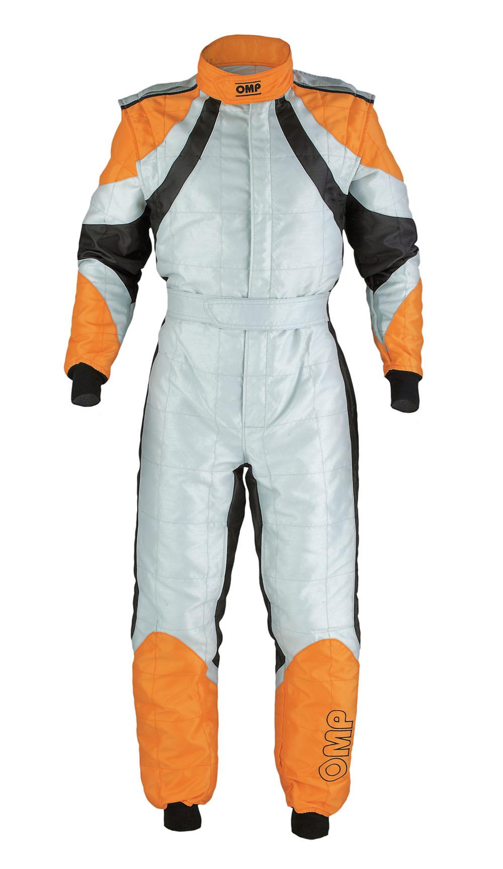 Kk01713 Omp Slash Kart Suit Cik Fia Size 56 Grey Black