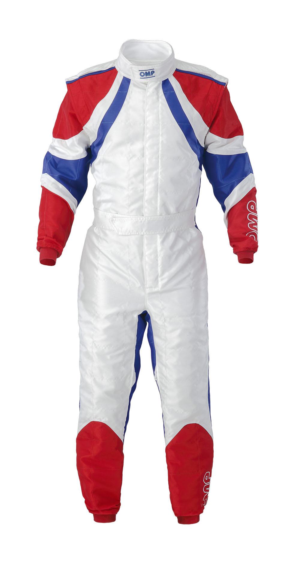 Kk01713 Omp Slash Kart Suit Cik Fia Size 56 White Blue Red