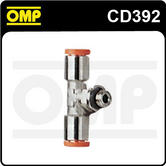 """CD/392 OMP RACING FIRE EXTINGUISHER CONNECTION PIECE 1/8"""" T SHAPE"""