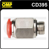 """CD/395 OMP RACING FIRE EXTINGUISHER CONNECTION STRAIGHT 1/8"""" JUNCTION"""