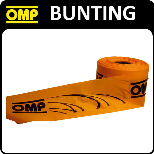 View Item X/694/15 OMP RACING RALLY NYLON BUNTING 500m x 15cm SHOW ROLL MOTORSPORT EVENTS