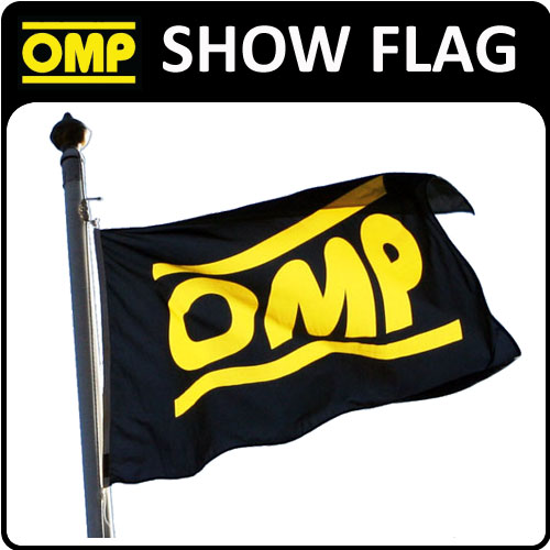 View Item X/867 OMP RACING RALLY RARE DEALER FLAG 1x1.5metre for MOTORSPORT SHOWS & EVENTS