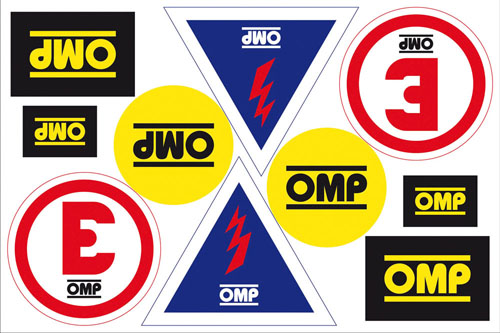 X/846 OMP RACING RALLY TRACK MOTORSPORT STICKER DECALS