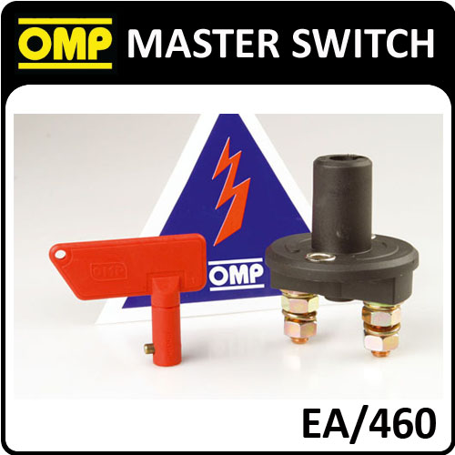View Item EA/460 OMP MASTER SWITCH 2 POLE TO DISCONNECT BATTERY - FIA APPROVED FOR RACING!