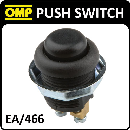 View Item EA/466 OMP RACING INTERIOR PUSH BUTTON SWITCH - 2 POLES WITH THREADED FIXING NUT