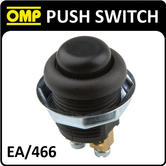 EA/466 OMP RACING INTERIOR PUSH BUTTON SWITCH - 2 POLES WITH THREADED FIXING NUT