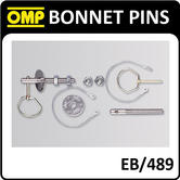 EB/489 OMP RACING BONNET PINS LARGE PIN STAINLESS STEEL M10 - OMP BEST SELLER!