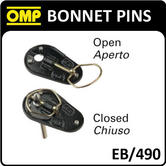 EB/490 OMP BONNET PINS LARGE CAST ALUMINIUM TYPE with M10 STAINLESS STEEL PINS