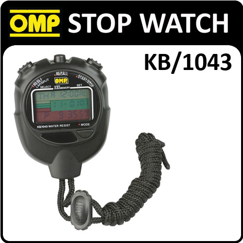 View Item KB/1043 OMP RACING MULTI-FUNCTION PROFESSIONAL STOPWATCH 100 LAP MEMORY & TIMER