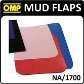 NA/1700 OMP RACING RALLY MUD FLAPS 50x30mm in CLEAR POLYETHYLENE 1.5mm 1 PAIR