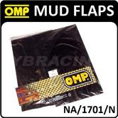 NA/1701/N OMP RACING RALLY MUD FLAPS BLACK DIAPRENE SLASH GUARDS 50x30cm 2mm