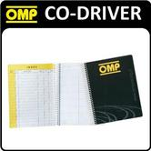 NA/1862 OMP CO DRIVER RALLY PACE NOTE PAD BOOK 17x22cm ROAD RALLY NAVIGATOR USE