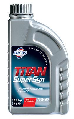 Fuchs Titan Supersyn Engine Oil All Grades 10w 60 5w 30 0w