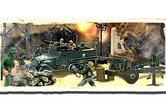 85105 FORCES OF VALOR U.S. M3A1 HALF-TRACK AND SOLDIERS SET  NORMANDY 1944 1/72