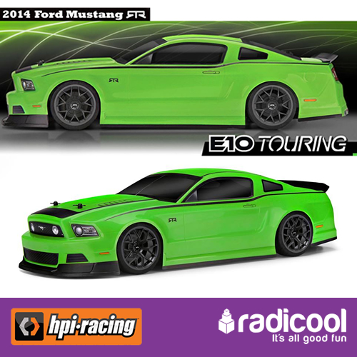 ... E10 WITH 2013 FORD MUSTANG RTR BODY 1/10 TOURING CAR ELECTRIC RTR