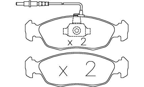 citroen xsara 1 9d td 97 00 omp brake pads 971c racing carbon ot 6876 buy online. Black Bedroom Furniture Sets. Home Design Ideas
