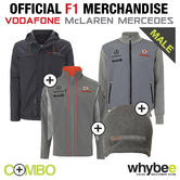 McLAREN MERCEDES F1 TEAM WINTER JACKET, SWEATSHIRT, SOFTSHELL JACKET & BEANIE!