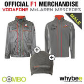 McLAREN MERCEDES F1 LIGHTWEIGHT JACKET & SOFTSHELL JACKET + FREE BEANIE HAT!