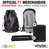 McLAREN MERCEDES F1 BAG PACK! RUCKSACK + DUFFLE BAG + LAP TOP SLEEVE + TEAM PEN!