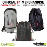 McLAREN MERCEDES F1 BAG COLLECTION! inc RUCKSACK DUFFLE BAG & GYM BAG!