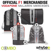 2013 McLAREN FORMULA 1 TEAM BAG COLLECTION ( x4 BAGS) VODAFONE McLAREN MERCEDES