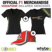 LEWIS HAMILTON LADIES WOMENS FORMULA 1 T-SHIRT TWIN PACK & FREE HAMILTON CAP!