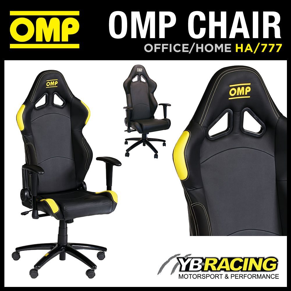 HA OMP RACING RALLY LEATHER OFFICE CHAIR ON WHEELS HOME