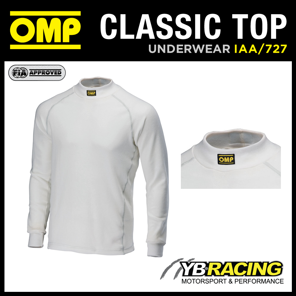 SALE! IAA/727/CW OMP RACING FIREPROOF UNDERWEAR LONG SLEEVED CREW NECK TOP NOMEX Enlarged Preview