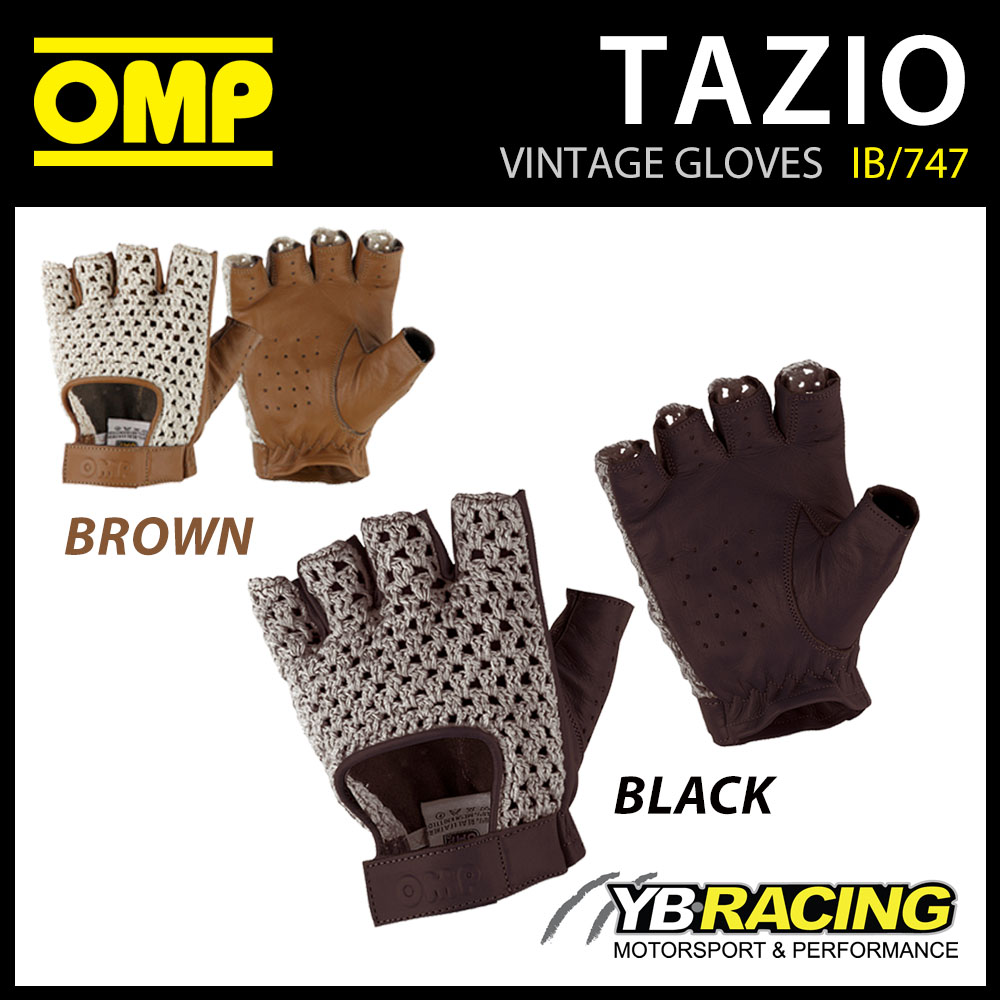 Leather driving gloves on ebay - Ib 747 Omp Tazio Vintage Classic Driving Gloves Short Style Leather 4 Sizes