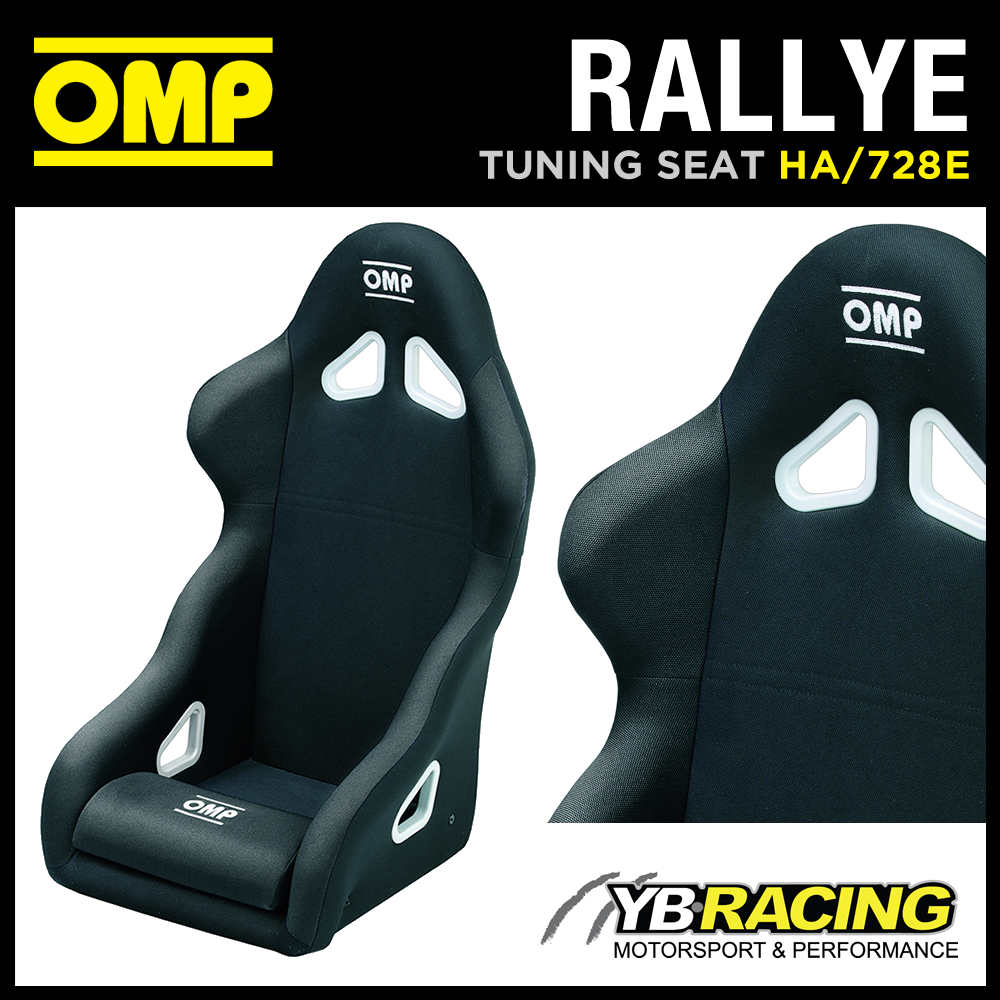 HA/728E OMP 'RALLYE' SPORTS FIXED BUCKET ROAD SEAT BLACK with OMP LEG CUSHION!
