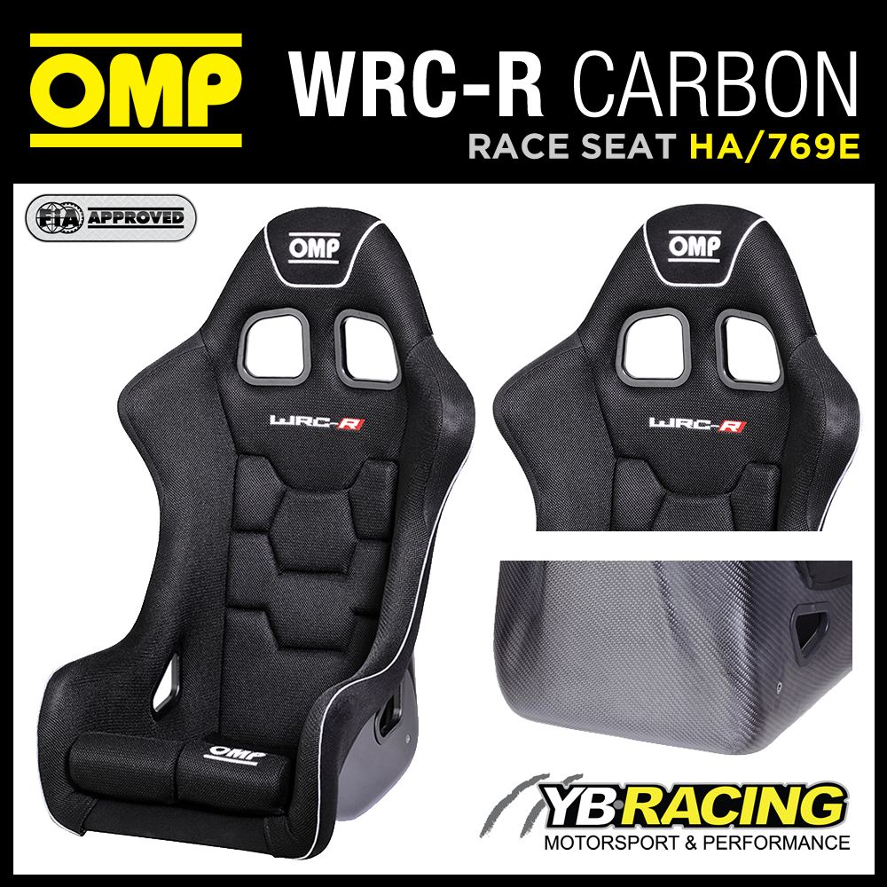 """HA/769E OMP """"WRC-R XL"""" RACING SEAT BLACK LARGER & HIGHER SPECIAL XL SIZE SEAT"""