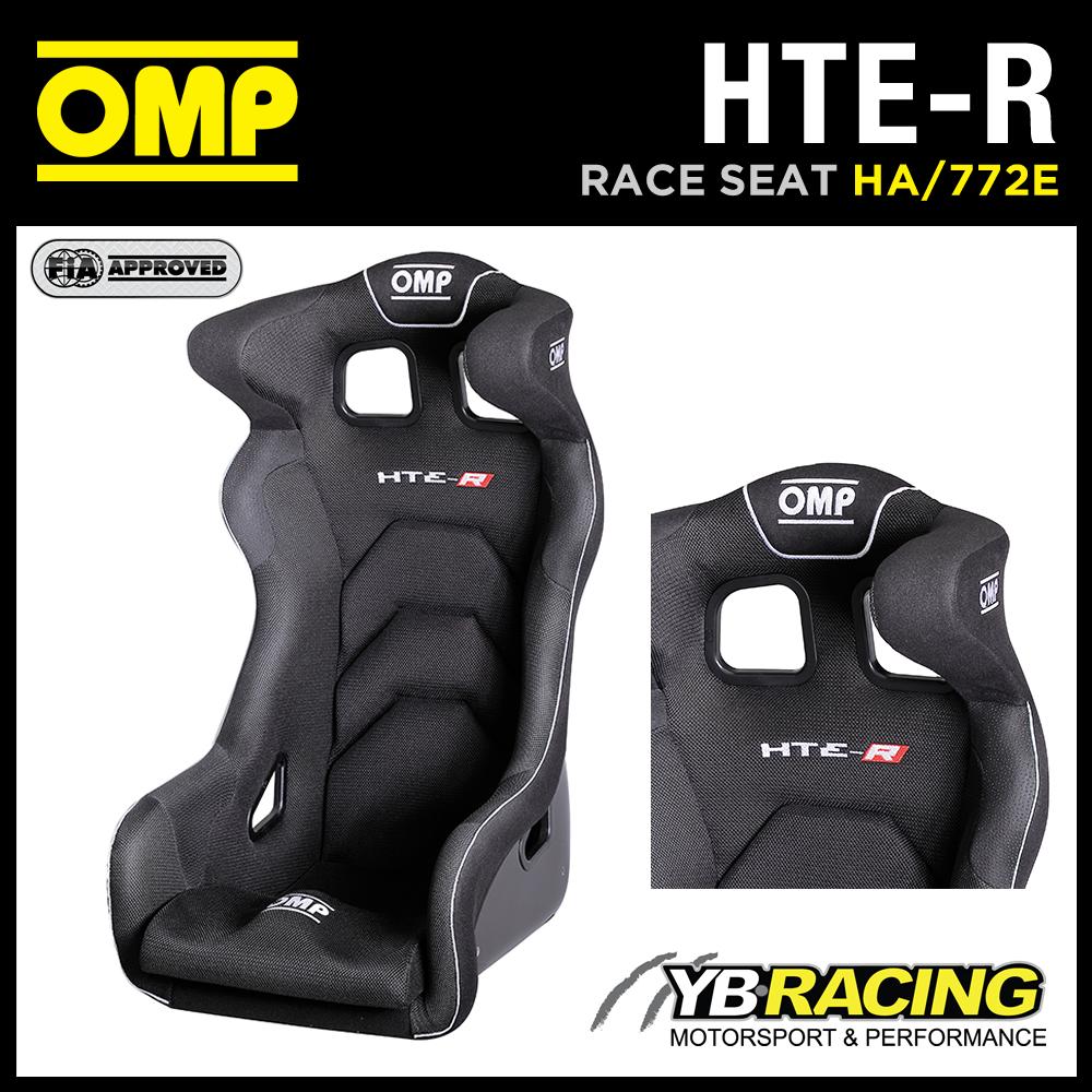 "HA/772E OMP ""HTE-R"" PROFESSIONAL RACING SEAT GEL COATED FIBREGLASS IN BLACK"