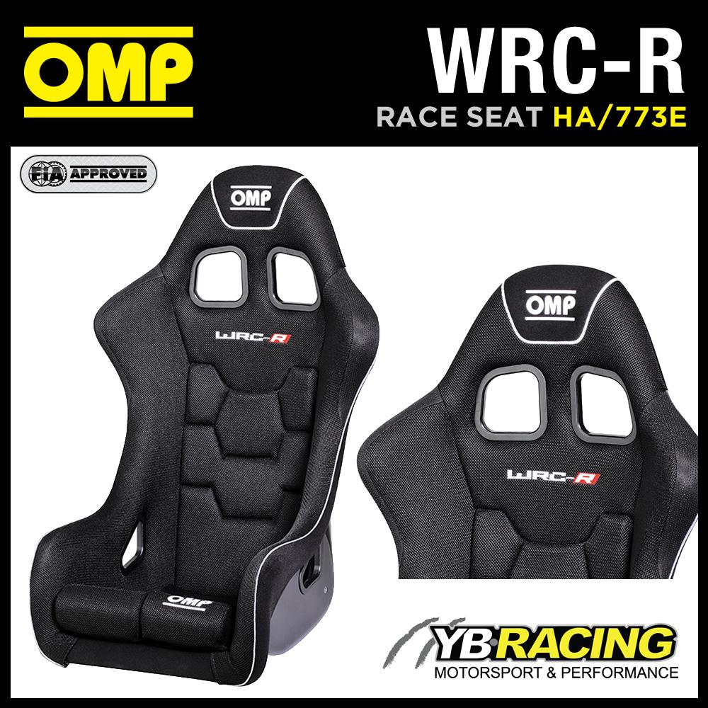"HA/773E OMP ""WRC-R"" RACING AIRTEX GEL COATED FIBREGLASS BUCKET SEAT BLACK FIA"