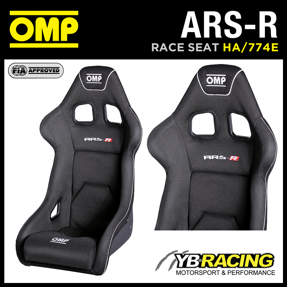"HA/774E OMP ""ARS-R"" RACING SEAT AIRTEX GEL COATED FIBREGLASS BUCKET SEAT BLACK"